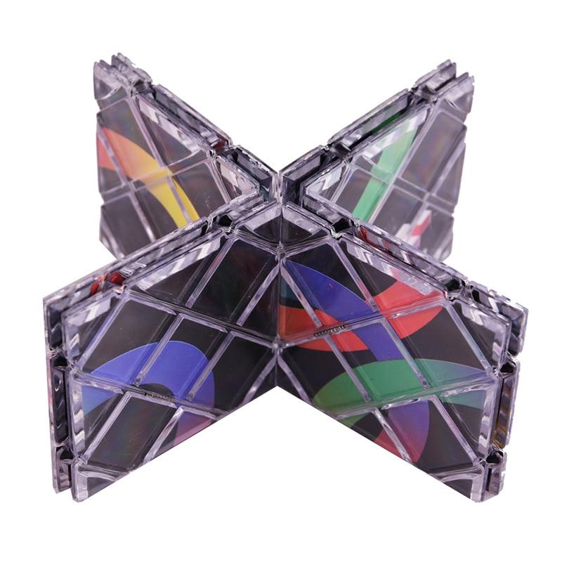 New Cube Puzzle Lingao 8 Panels Folding Puzzle Cubes Twisty Cubo Magico Professional Classic Toys