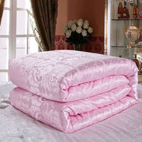 spring/Autumn silk comforter,twin queen king size soft natural silk blankets,pink white yellow jade color bedding Duvet Filler