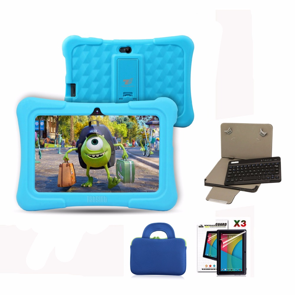 Dragon Touch Y88X Plus 7 Inch Children Tablet Quad Core Android 5.1 + Tablet Case + Screen Protector + Keyboard For Children Kid