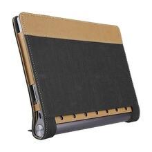 Case para lenovo yoga tab 3 más protectora cubierta elegante de cuero tableta para yoga tab3 más yt-x703f 10.1 pulgadas pu protector de la manga