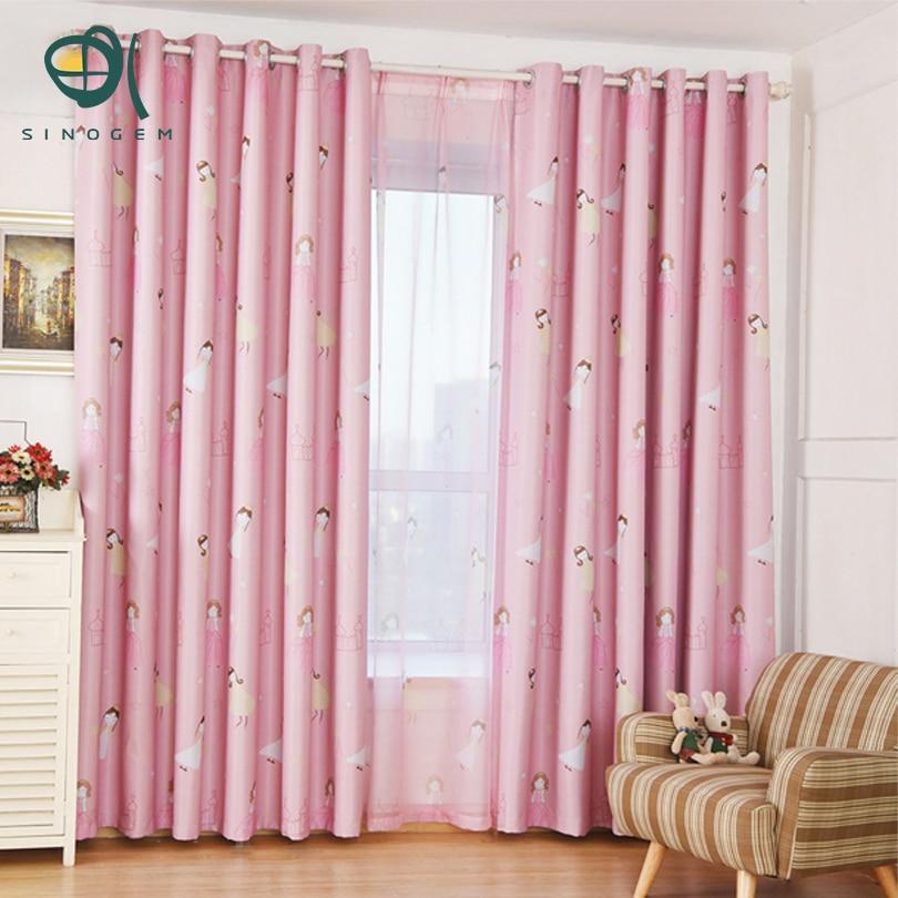 sinogem princesa rosa cortina para ventanas de la sala cortinas cortinas cortinas decorativas de dibujos animados