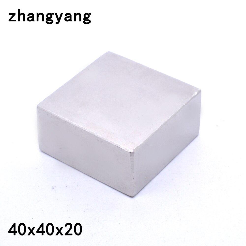 1 pz blocco 40x40x20mm Super Potente Forte Rare Earth Block NdFeB Magnete Al Neodimio Magneti (37*37*17)