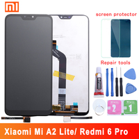 LCD display For Xiaomi Mi A2 Lite 5.84 inch touch screen digitizer assembly For Xiaomi Redmi 6 Pro Frame With Free Tools