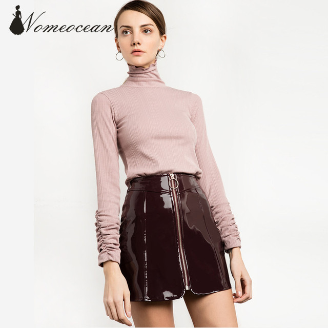 Aliexpress.com : Buy BURGUNDY PATENT CIRCLE RING ZIPPER SKIRT Zip ...