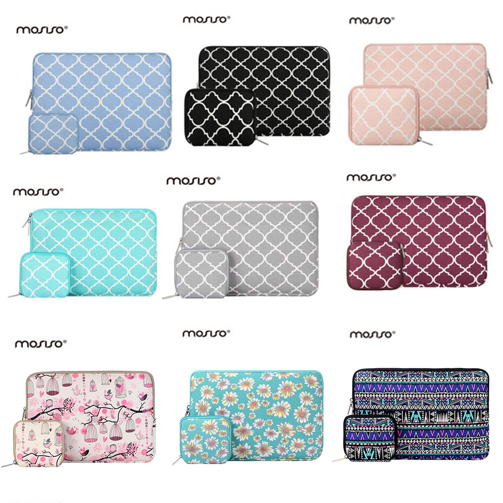 Mosiso Quatrefoil 11.6 13.3 15.6 inch Laptop Sleeve Bag Case for MacBook Air 11 13 Mac Pro 13 15 Asus Acer Notebook Accessories notebook bag 12 13 3 15 6 inch for macbook air 13 case laptop case sleeve for macbook pro 13 pu leather women 14 inch