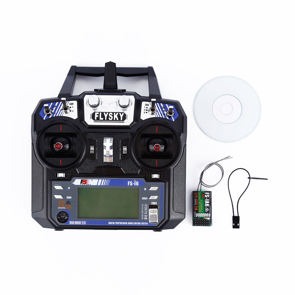 FlySky FS-i6 2.4G 6CH AFHDS RC Transmitter With FS-iA6 Receiver for Airplane Heli UAV Multicopter Drone @ZJF aeromodelling usb analog cable fms simulator for flysky sm100 drone 2 4g rc