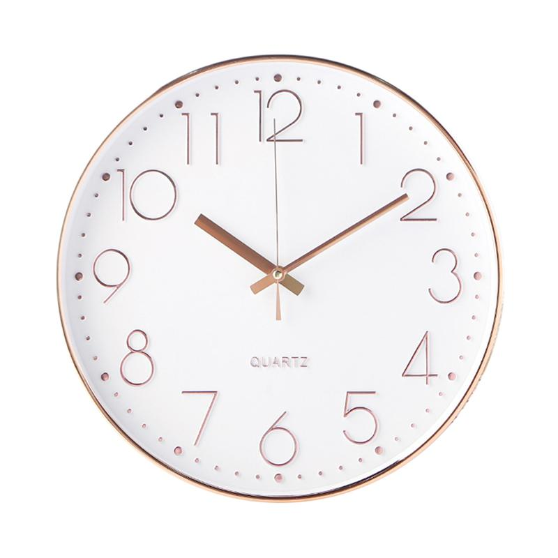12 Inch Silent Wall Clock Decorative Round Digital Wall Clock For Living Room Bedroom