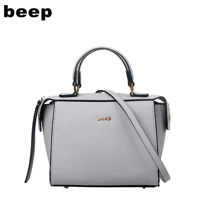 BEEP2018 new high-quality fashion luxury brand leather handbags fashion shoulder bag women's well-known brand beep beep go to sleep