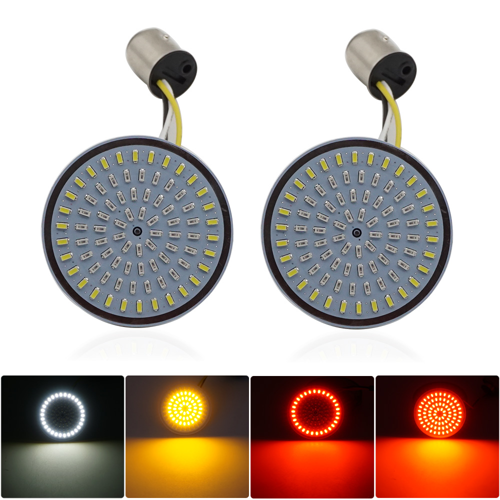 Bullet Turn Signal Indicator Light Lamp 1156 1157 LED Inserts Light For Motorcycle Harley Touring Sportster Glide Dyna FLSTF CVO