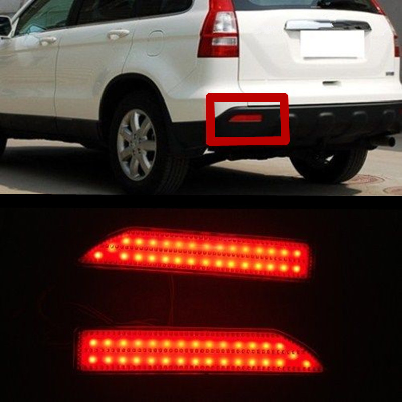 High Quality For Honda City 2012 2013 2014 CRV 2007~2009 Reflector LED Back Tail Rear Bumper Light Brake Lamp Fog Light new for toyota altis corolla 2014 led rear bumper light brake light reflector novel design top quality fast shipping