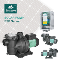 (DHL Free Shipping) DC Solar Powered Swimming Pool Pump | Solar Pool Water Pump (17m3/h 15m | Model : SJP17/15 D48/500)