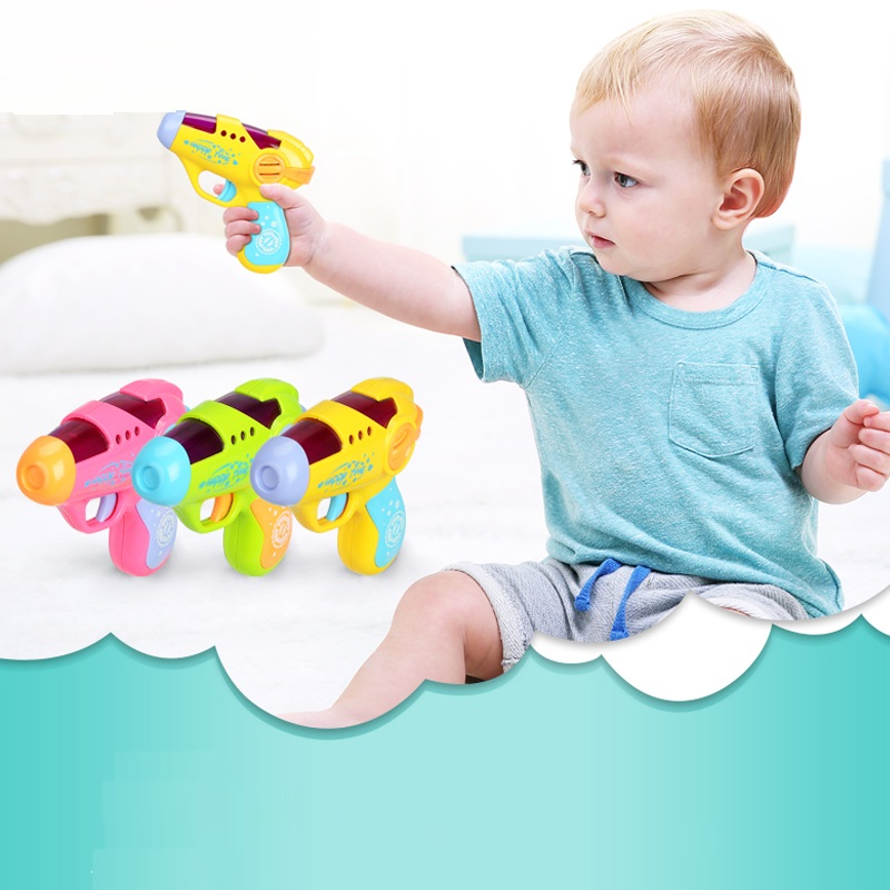 Baby Toys13-24 Months Small Pistol Simulation Gun Sound Electric And Light Toys Gun Birthday Gift Baby Toys Educational 1 Year