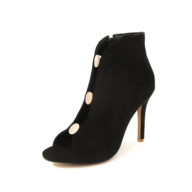 Bling Romance Ss064 Qualité De bleu Souper Avant S 34 Chaussures Latérale Sandales gris Glissière 43 Noir Femmes Haute Talons Sumer Nouveau Taille dxxUwq0p