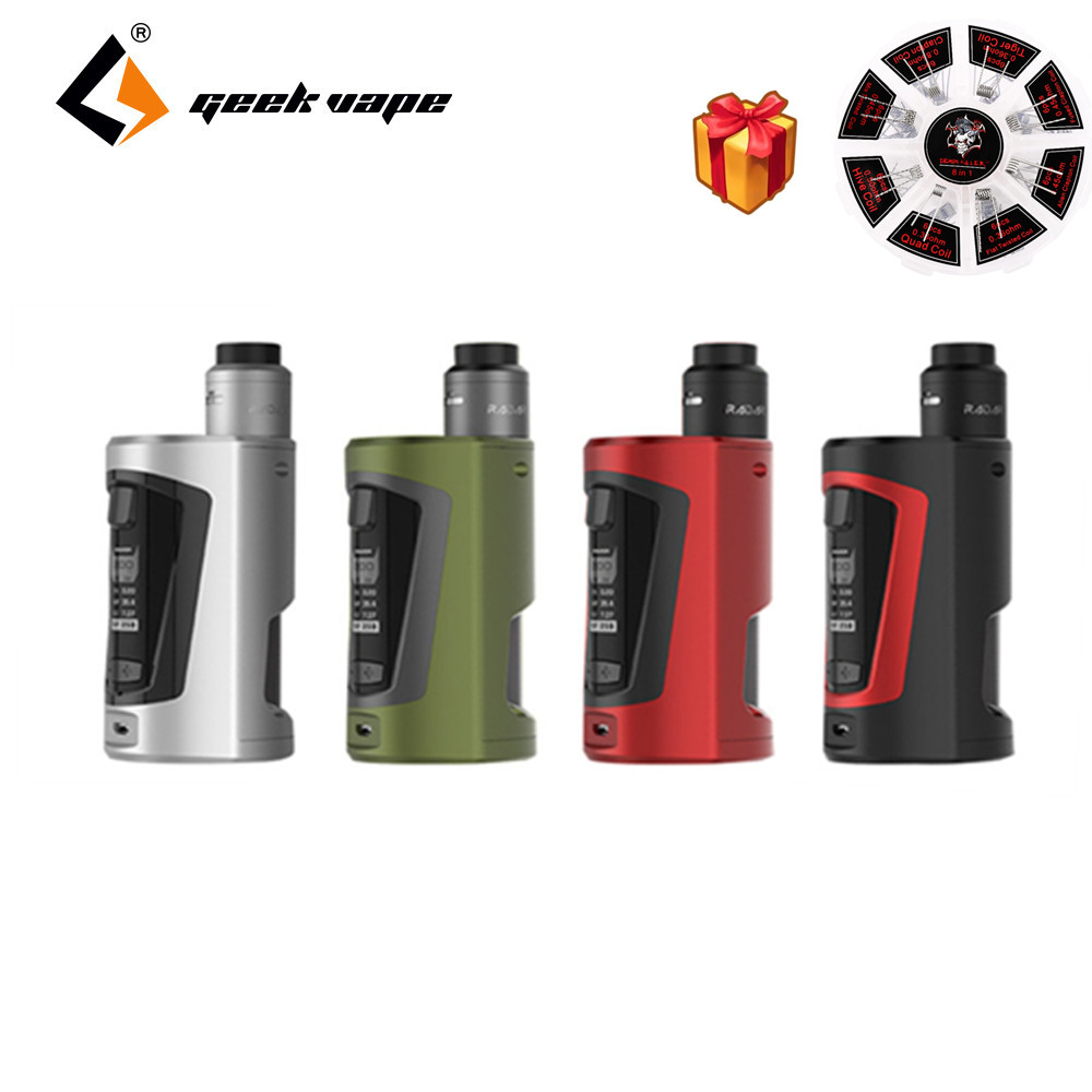 Electronic Cigarette Kit Original Geekvape GBOX Squonker 200W Mod with Radar RDA and 8ml Squonk bottle AS chipset 8 in 1 Coil geekvape gbox squonker 200w tc mod w as chipset