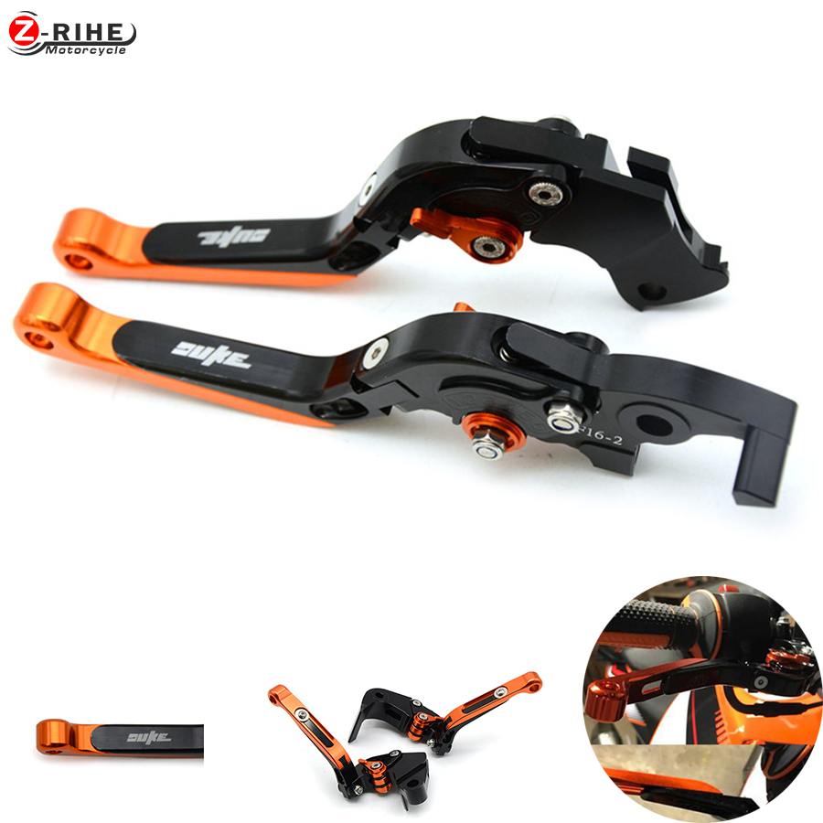Motorcycle brakes Clutch levers For KTM Duke 690 2008-2011 990 Super Duke 05-12 1290 Super duke R/GT 2014 2015 2016 RC8 RC8R for ktm 690 duke 990 super duke 1290 super duke rc8 r motorcycle accessories aluminum short brake clutch levers red