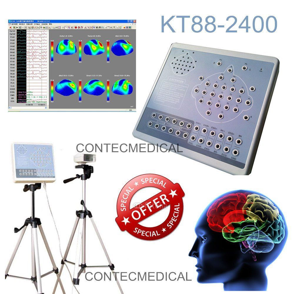 US $899 0 |CONTEC KT*8*8 2400 Digital 24 Channel E*E*G & Mapping Systems  Machine+Video Software-in Blood Pressure from Beauty & Health on