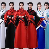 Ancient Tang Dynasty Empress Dress Traditional Hanfu Cosplay Clothing Women Folk Dance Costumes Stage Performance Wear DNV10949