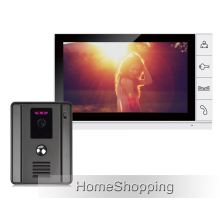 FREE SHIPPING Wired New 9″ TFT LCD Screen Video Door phone Intercom System With 1 Night Vision Door bell Camera + 1 Monitor
