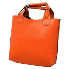 SAF-Neue vintage-tasche ledertaschen frauen Tote Einkaufstasche Handtasche orange