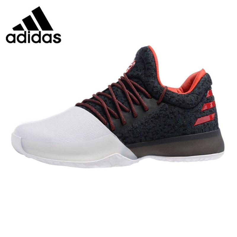 Adidas Харден Vol. 1 Для мужчин баскетбольной обуви, черный, белый цвет, амортизация нескользящая подошва дышащих BW0552 BW0546