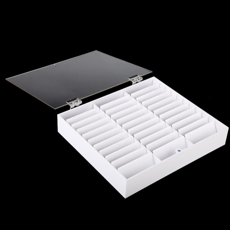 Image 4 - 33 grades vazio prego arte caixa de armazenamento caso titular  caixa do prego para dicas jóias brincos grânulo recipiente unhas  manicure comprimidos organizadorCestos e caixas de armazenamento   -