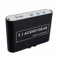 5.1 Audio Gear Digital Sound Decoder Converter Support Dolby DTS Optical to 3RCA with USB Port for Charging for DVD XBOX360