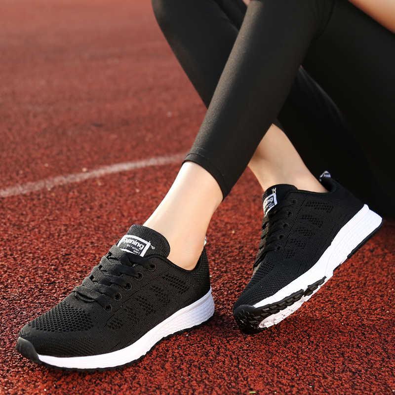 Модная обувь; женские кроссовки; Повседневная обувь из сетчатого материала на плоской подошве; дышащая обувь; tenis feminino; обувь на шнуровке; zapatos mujer; женская обувь на плоской подошве; светильник