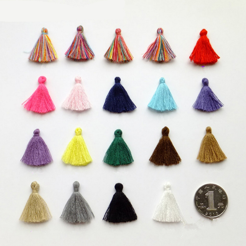 100pcs/lot 3cm Mini cotton tassel fringe sewing bangs flower tassel pendant tassels for DIY curtains home decoration accessories