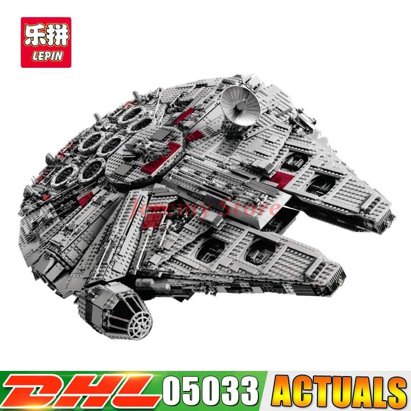 2017 LEPIN 05033 Star 5265Pcs Wars Ultimate Millennium Collector's Falcon Model Building Kit Blocks Bricks DIY Toy 10179 lepin 05033 wars 5265pcs star ultimate 10179 collector s millennium toys falcon model building kit blocks bricks children toy