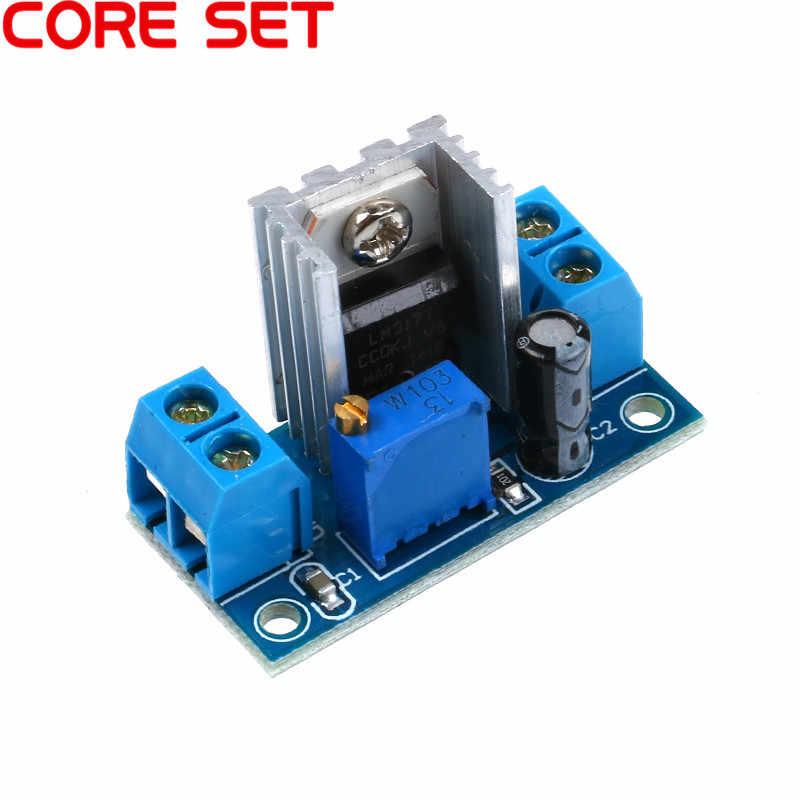LM317 линейного регулятора Регулируемый источник питания Напряжение LM317 DC-DC 4,2-40 V до 1,2-37 V модуль ldo понижающего преобразователя плата Модуль гибкий кабель