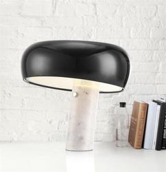 Marmur włoski lampa stołowa LED grzyb biały czarny kapelusz lampa stołowa nowoczesny luksusowy Hotel sypialnia Study Eye Room oświetlenie domu