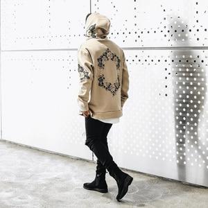 Image 2 - سترة رجالية بغطاء للرأس بتصميم جديد للخريف 2019 بنمط الهيب هوب للرجال بلوفرات رجالية بقلنسوة بلوفر رجالي ملابس خروج رجالية