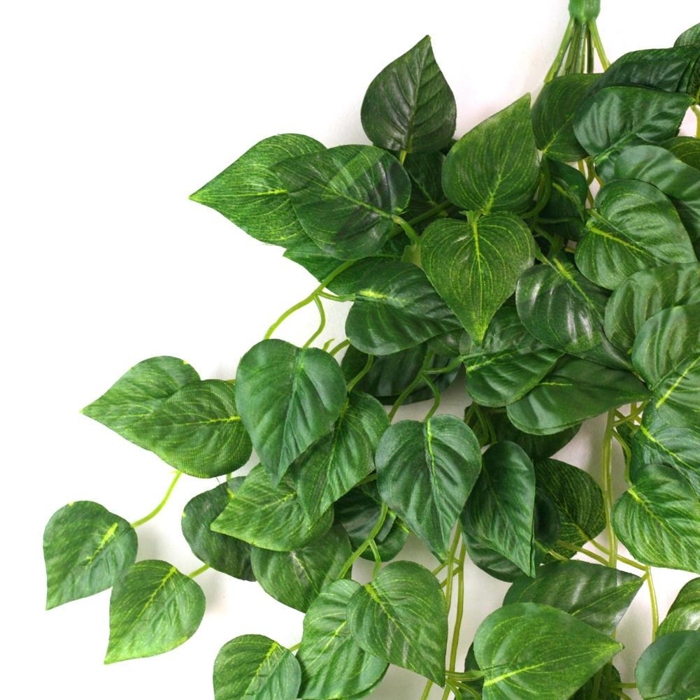 Green Artificial Fake Hanging Vine Plant Leaves Garland Home Garden ...