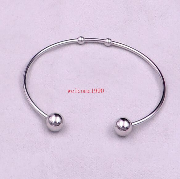 Adjustable Bracelets Bracelets in Bulk 2.4 in Bulk Bracelet For Charms Wholesale Bangle Stainless Steel Bracelets Screw End Ball