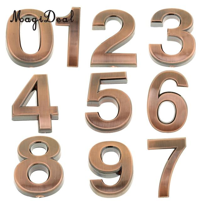 MagiDeal Antique Door Number Room Plate Address Office Home House Number  1-9 Hotel Sign - MagiDeal Antique Door Number Room Plate Address Office Home House