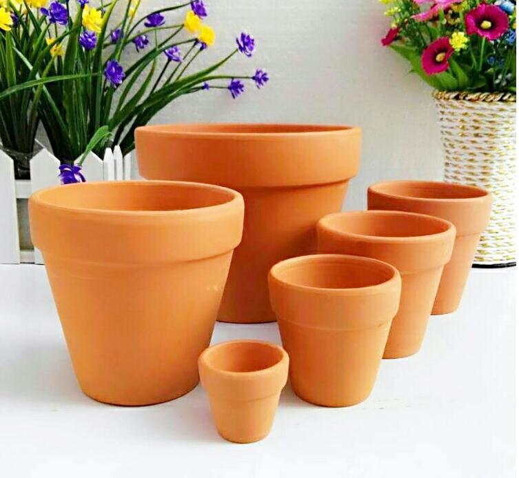 100pcs Mini Ceramic Flower Pot D5xh4cm Clay Succulent Planters Garden Meat Plant Antique Vintage Nursery Pots Sn1537