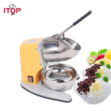 ITOP Iron Painting Ice Crusher 60kgs/h 180W Commercial Snow Cone Chopper