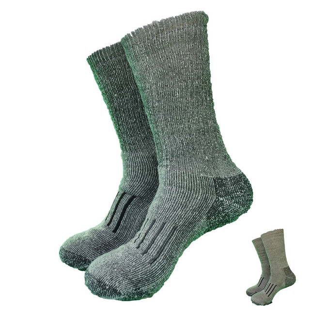 e81b941417236 2 Pairs Winter The Whole Terry 50% Merino Wool Thick Hike Socks Men's Socks  2 Colors