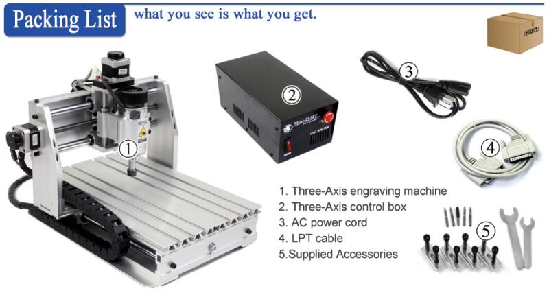 Desktop DIY mini cnc engraving machine wood router mach3 control for PCB PVC etc - 4