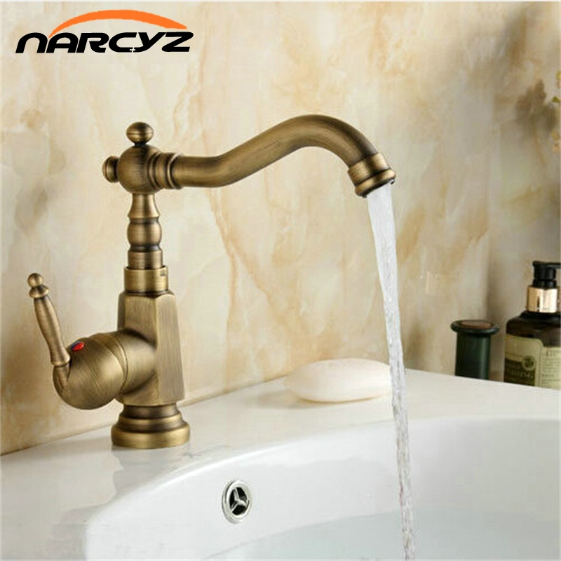 Wholesale and Retail Basin Faucet Mixer Taps Antique Brass Finished Hot and Cold Deck Mounted Vanity Vessel Sinks Faucet XT908Wholesale and Retail Basin Faucet Mixer Taps Antique Brass Finished Hot and Cold Deck Mounted Vanity Vessel Sinks Faucet XT908