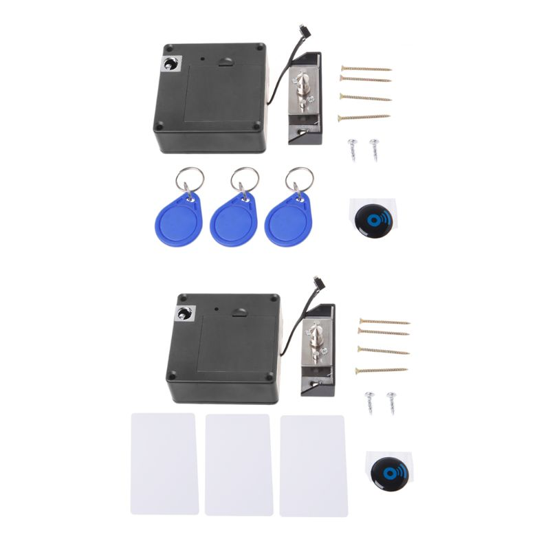 Ev Dekorasyonu'ten Kilit Gövdesi'de Dolap görünmez elektronik RFID kilit gizli anahtarsız çekmece kapı kilitleri sensör soyunma title=