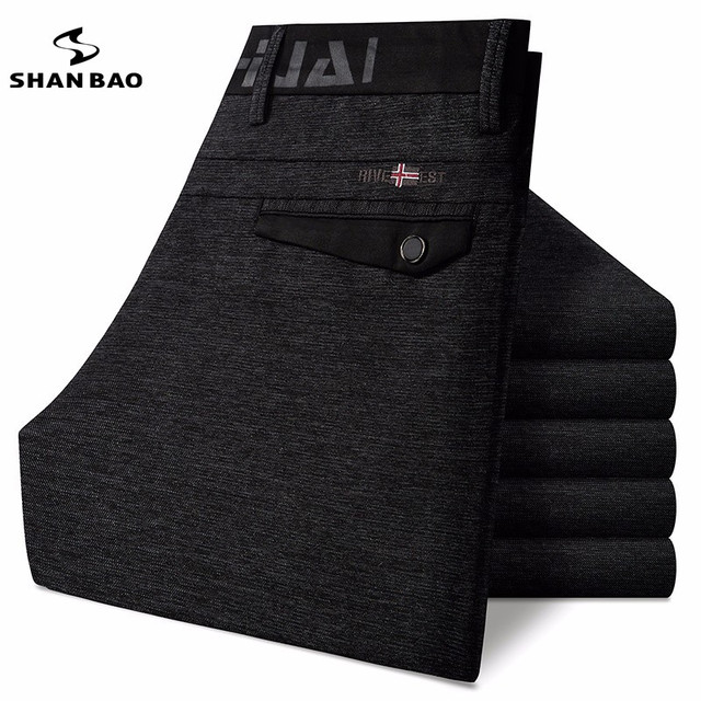 Толщиной теплая зима высокое качество роскошный мужские случайные штаны новый ШАН БАО одежда брюки мужские большой размер бизнес джентльмен