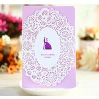 (30 قطعة/الحزمة) ورقة الحرف picrced زهرة تصميم شخصية ومخصص الطباعة بطاقات دعوات الزفاف الرومانسية