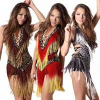 2015 Sexy Cheap Latin Dance Dress Women Professional Latin Skirt Samba Dance Latin Salsa Dresses