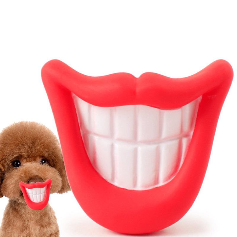 Dog Training Chew Toy Silicone Sound Bite Flaming Lip Lipstick Funny Interactive Stress Outdoor Sports Fun Home Pet Products hot