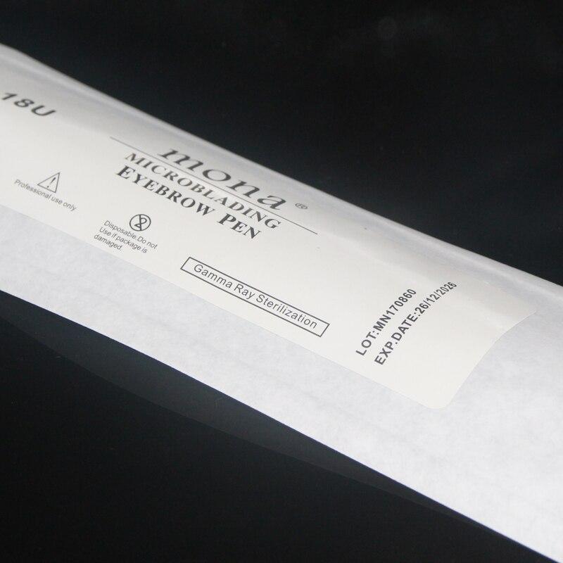 10 pces microblading manual caneta descartável com
