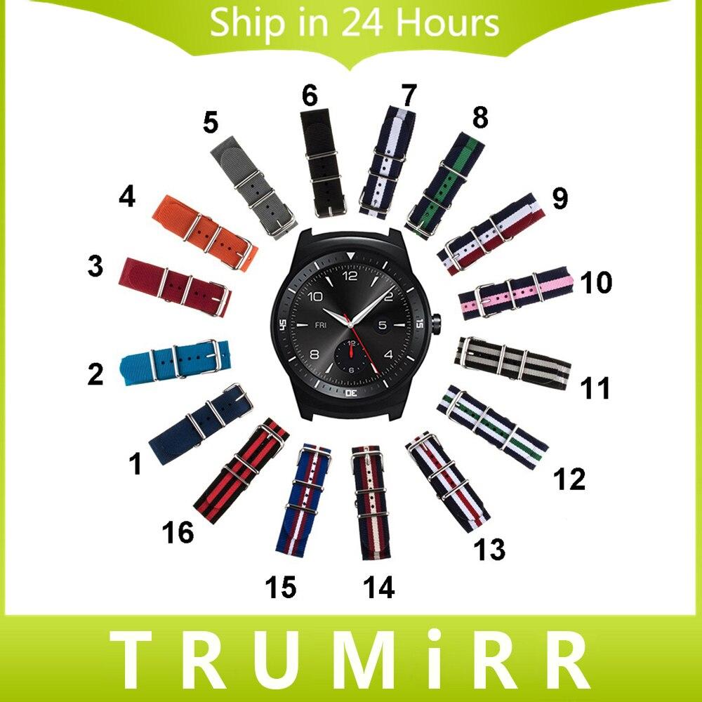 22mm Nylon Watchband for LG G Watch W100 / R W110 / Urbane W150 NATO Strap Fabric Belt Wrist Bracelet Multi Color + Tool + Pins часы lg watch urbane w150 silver
