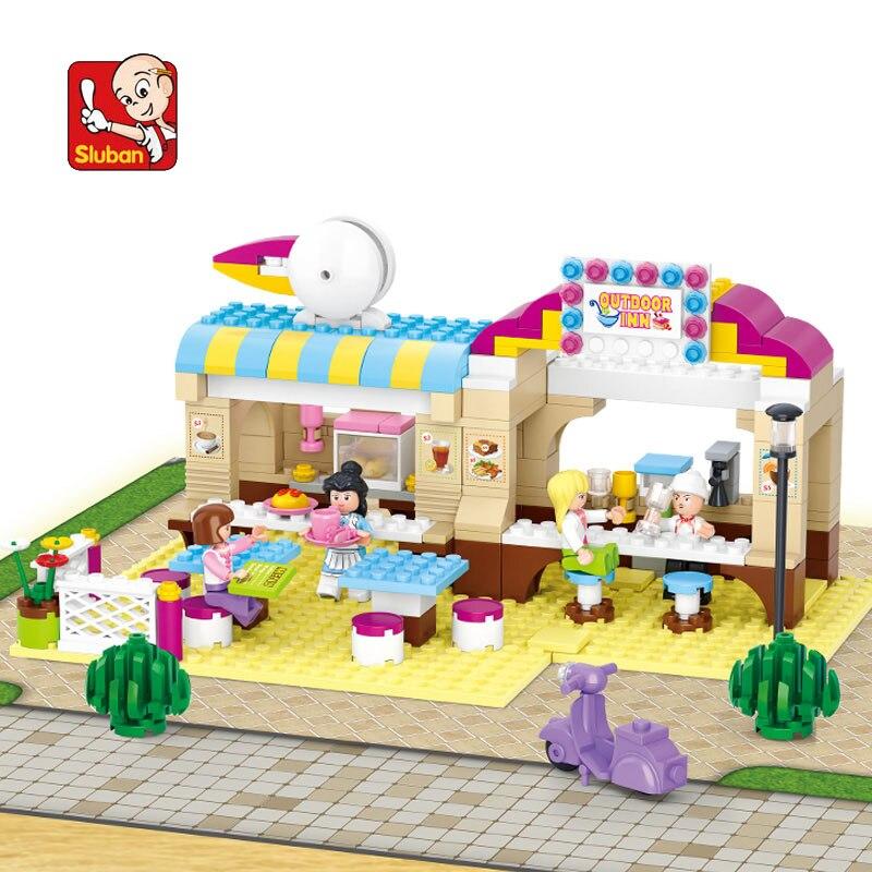 model building kits compatible city restaurant 536 3D blocks Educational model & building toys hobbies for children