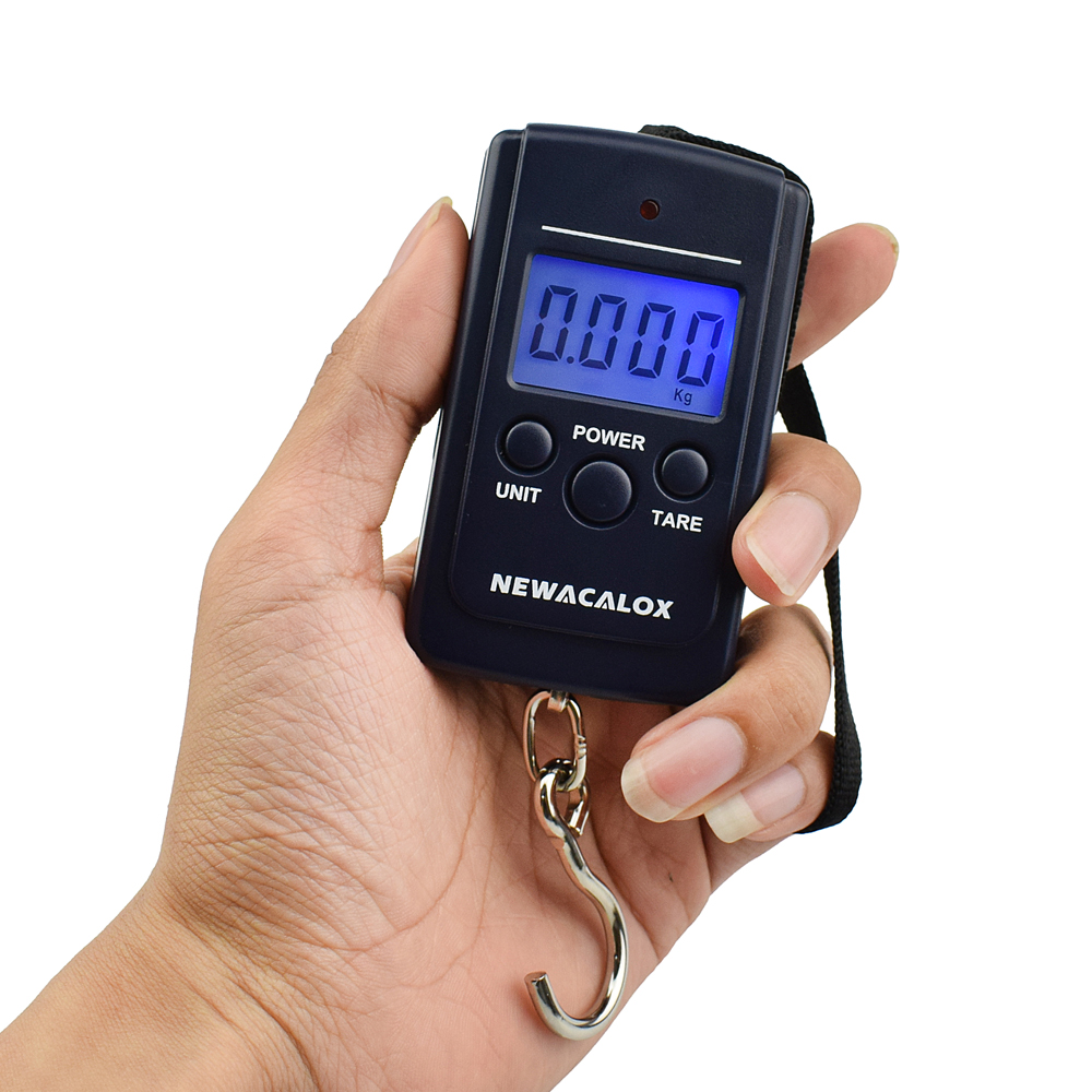 NEWACALOX 40kg / 88lb mini přenosný digitální rybářská váha - Měřicí přístroje - Fotografie 4