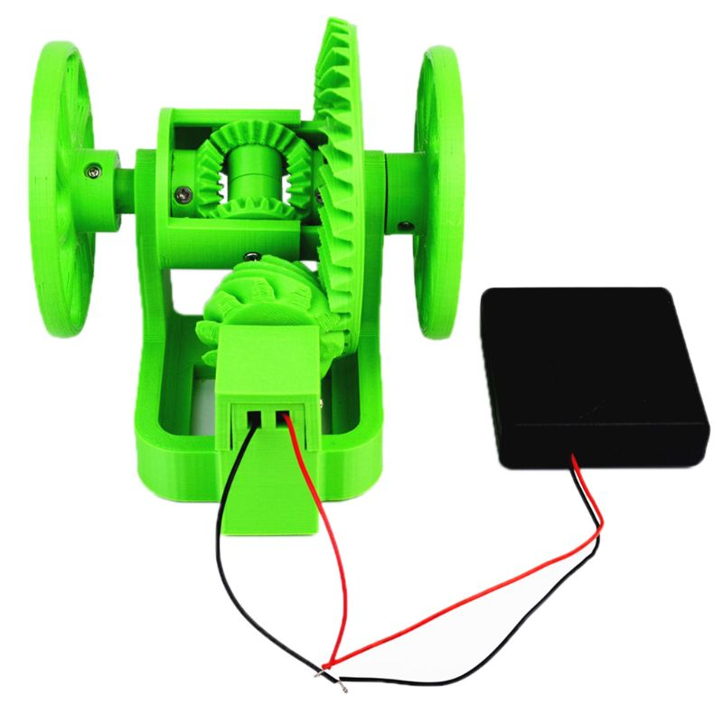 Car Differential Simple Simulation Model With Battery Box 3D Technology Printing Creative DIY Accessories